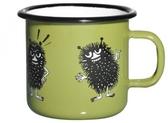 Stinky, Retro enamel mug 2,5 dl green/black