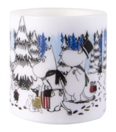 """Moomin Originals lantern candle """"Winter Forest"""", small"""