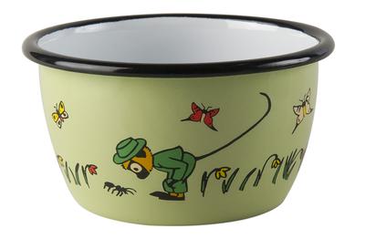 Enamel bowl 3 dl - Mr Nilsson, green