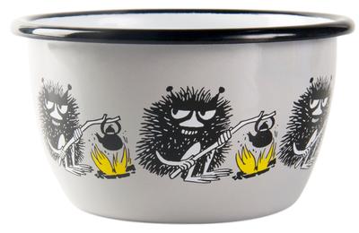 Moomin enamel bowl 3 dl - Friends, grey, Stinky