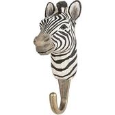 Handcarved hook Zebra
