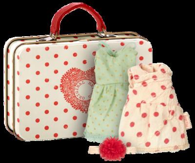 Maileg-  Micro, suitcase, 2 set clothes