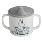 Moomin mug with non spill function, grey