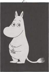 Ekelunds Hand Towel - Big Moomin, black