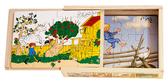 Astrid Lindgren karaktärer, 4 träpussel i låda