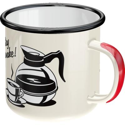 Emaljmugg - Strong Coffee