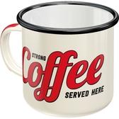Enamel mug - Strong Coffee