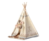 Maileg -  Little feather with tent, little sister mouse
