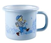 Enamel mug 1,5 dl - Emil, blue