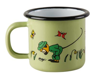 Enamel mug 1,5 dl - Mr Nilsson, green