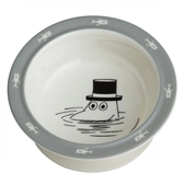 Moomin bowl with suction cup, grey