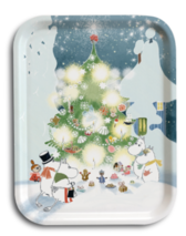 "Moomin tray ""Christmas Tree"""