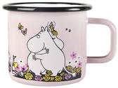 Moomin enamel mug 3,7 dl - Hug