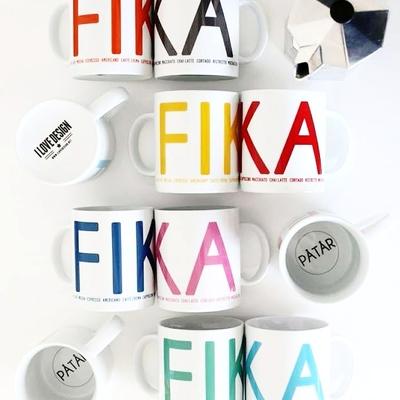Fika mug, black