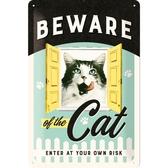Metal sign - Beware of the cat