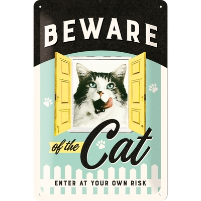Skylt - Beware of the cat