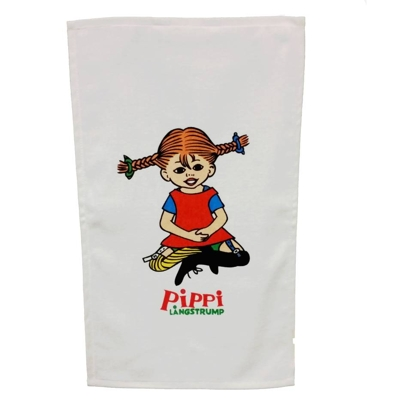 Kitchen towel Pippi, white