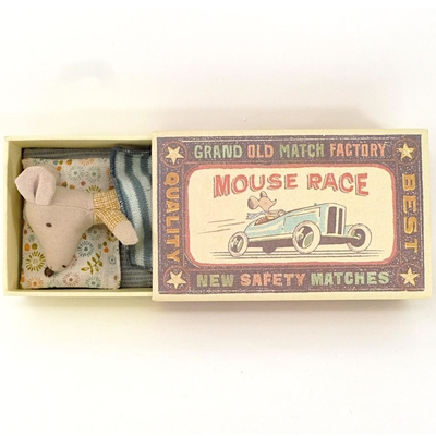 Maileg -  Micro Mouse, Little brother in box