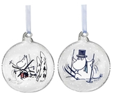 Moomin Christmas ball, Winter Time - Moominmamma & Moominpappa