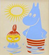 Mumin Print - Mumintrollet och Lilla My 1956, Limited edition