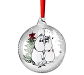 Moomin Christmas ball, Winter Magic - Moomin & Snorkmaiden