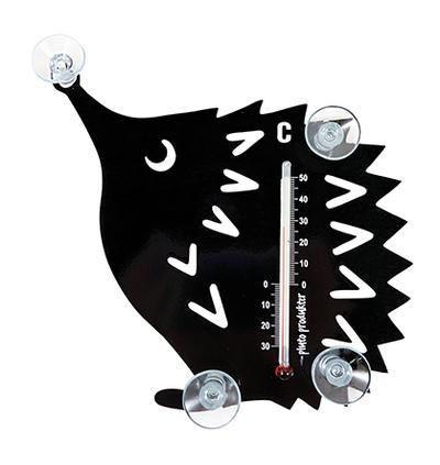 Temometer - Igelkott, svart