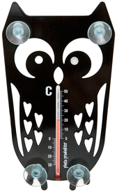 Temometer - Uggla, svart