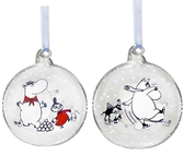 Moomin Christmas ball, Winter Time - Moomin & Snorkmaiden