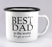 Enamel mug - Best Dad, white/black text