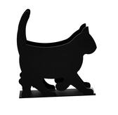 Napkin holder - cat, black