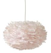 VITA EOS taklampa 45 cm, gåsfjädrar, rosa