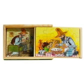 Pettson & Findus, 4 wooden puzzle in box