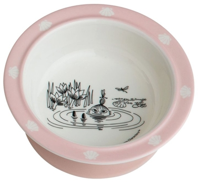 Moomin bowl with suction cup, pink