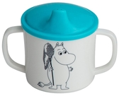 Moomin mug with non spill function, blue