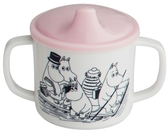 Moomin mug with non spill function, pink