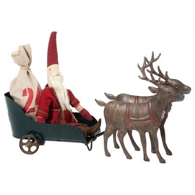 Maileg - Santas sleigh with reindeers