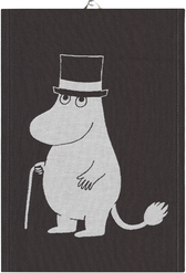 Ekelunds Hand Towel - Big Moominpappa, black