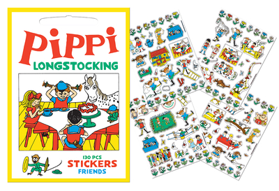 Stickers - Pippi friends, yellow