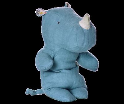 Maileg - Safari friends, Noshörning blå, liten
