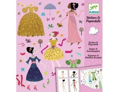 Djeco Sticker & paper dolls, Dresses through the seasons