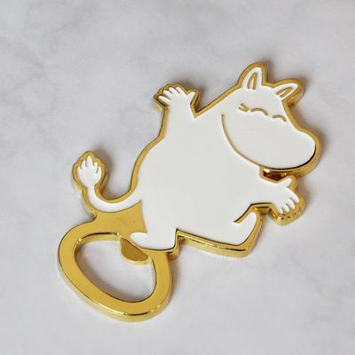 Moomin bottle opener, gold/white