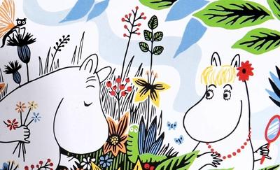 Mumin miniask - Sommardag, Mumintrollet & Snorkfröken