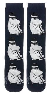 Moomin socks, man size - Moominpappa, marine blue