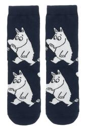 Moomin socks, kids size - Moomintroll, marine blue