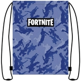 Fortnite- Gym bag, blue Camouflage