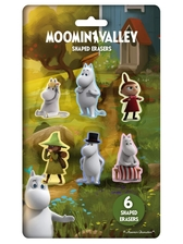 Moomin shaped erasers, 6-pack