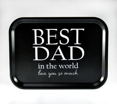 Best Dad tray, black