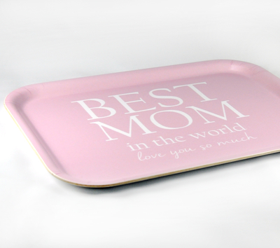 Best Mom tray, pink