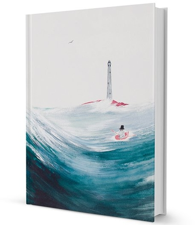 "Moomin hard cover notebook ""Moominpappa at sea"""