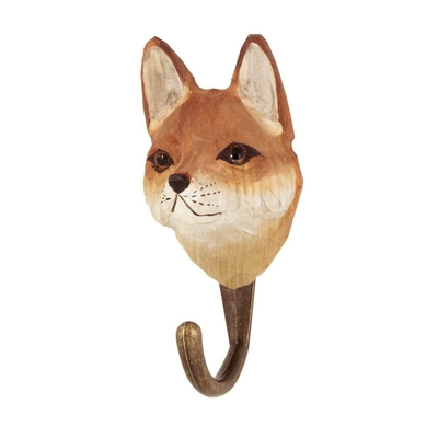 Handcarved hook Fox